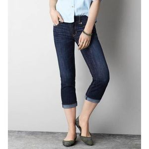 American Eagle stretch Artist crop jeans